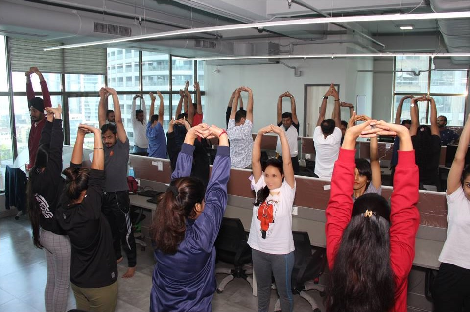 Corporate Yoga- Reviving Employee Engagement with Wellness Modules